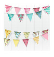bunting flags decoration on isolated background vector image