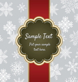 Christmas greeting card template design vector image