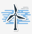 abstract windmill energy label with shadow vector image