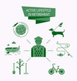 active lifestyle icon set vector image