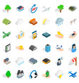 airport icons set isometric style vector image vector image