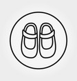 baby shoes icon editable thin line vector image vector image