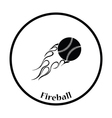 Baseball fire ball icon vector image vector image