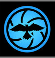 beautiful art with bird in the center of shutter vector image