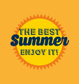 best summer design vector image vector image