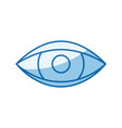 blue color shading silhouette eye symbol browser vector image