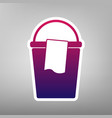 bucket and a rag sign purple gradient vector image vector image