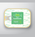 canned fish label template abstract vector image vector image