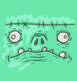 cartoon monster face halloween vector image vector image