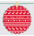 Christmas greeting card65 vector image