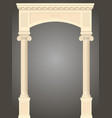 classic antique portal vector image vector image