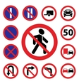 color traffic auto signs vector image vector image