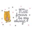 cute cat in love romantic vector image vector image