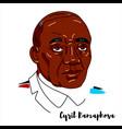 cyril ramaphosa portrait vector image
