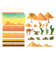 desert seamless background elements cartoon vector image vector image