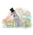dog gentleman vector image vector image