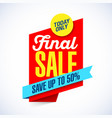 final sale banner template vector image