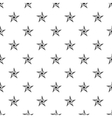 Five pointed star pattern simple style vector image