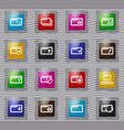 folder glass icons set vector image