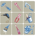 Hand drawn tool icons set vector image vector image