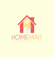 home paint service logo design template vector image