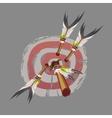 indian arrows hit target darts vector image