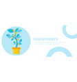 investment banner money tree in a pot home plant vector image vector image