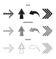 isolated object of element and arrow sign vector image vector image