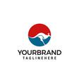 kangaroo logo designs template vector image vector image
