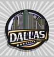 logo for dallas vector image vector image