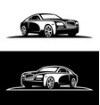 luxury car silhouette vector image