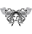 medusa with wings vector image vector image