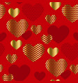 modern luxury valentines day seamless pattern vector image vector image