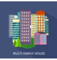 Multi-Family House Design Flat vector image vector image