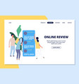online review landing page people giving feedback vector image