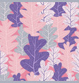 pink leaves pattern vector image vector image