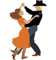 Polka dancers vector image vector image