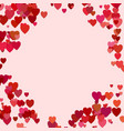 Random heart background design - valentines day vector image