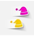 realistic design element santa hat vector image vector image