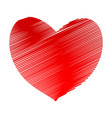 red hatch heart symbol icon stock vector image vector image