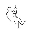 rock climber icon black color flat style simple vector image vector image