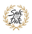 save date invite greeting card template vector image vector image