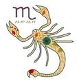Scorpio zodiac sign retro vector image vector image