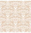seamless detailed lace pattern on beige background vector image vector image