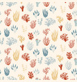 seamless marine pattern underwater plants and vector image