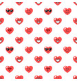 seamless pattern with red hearts on white vector image vector image