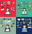 Set of professions Graphic designer accountant vector image vector image