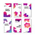 set sale banner background with fluid gradient vector image vector image