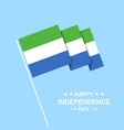 sierra leone independence day typographic design vector image vector image