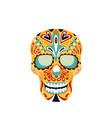 skull mexican calavera icon vector image